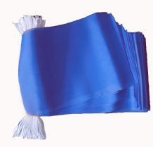 PLAIN BLUE BUNTING - 9 METRES 30 FLAGS